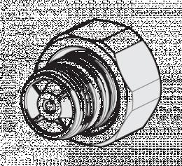"""Pajungimo nipelis-mova (pora) termostatiniams maišytuvams su atbuliniu vožtuvu 3/4"""", chromas"""