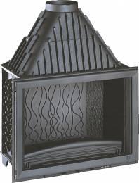 Ketinis židinio ugniakuras Invicta Grande Vision su tiesiu stiklu