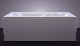 Akmens masės vonia Classica 1500x750 mm, balta