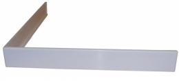 Uždanga akmens masės dušo padėklui K-90, 90x90 cm, balta