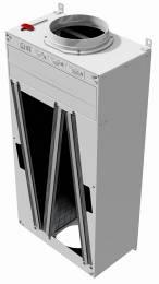 Aktyvuotos anglies filtras vėdinimo sistemai TITON Trimbox NO2 Ø160 dėžė su priešfiltriu 4 kasetėmis