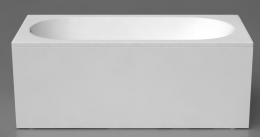 Akmens masės vonia Vispool Libero 170 x 80 cm, balta