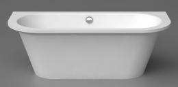 Akmens masės vonia Vispool Evento 2, 1750x750 mm, su 2 apvalintais kampais, balta 100111(2)