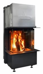 Plieninis židinio ugniakuras Spartherm Premium A-3RL-60h, ø 200 mm