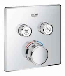 Virštinkinė dušo maišytuvo Grohtherm Smartcontrol dalis, 2 valdikliai, chromas