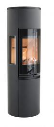 Krosnelė CONTURA 596G:1 Style, juoda, aukštos durys su ketiniu viršumi (998171,698965,998550)
