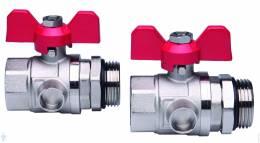 FHF-BV Rutuliniai ventiliai 1'' su jungimo antgaliais, (2 vnt) *