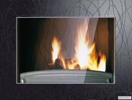Ketinis židinio ugniakuras Invicta SYMPHONIE 800, su dekoratyviniu remu