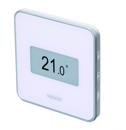 Uponor Smatrix Wave termostatas stilingas skaitm. + drėg. d. T-169 baltas