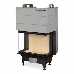 Plieninis židinio ugniakuras Romotop Heat HC3LH21 65.52.31, stiklas trijų dalių