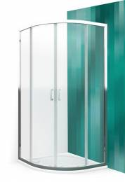 Pusapvalė dušo kabina LLR2/900, R 550, prof. brillant, stikl. transparent