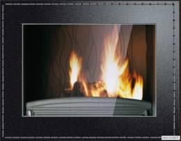 Ketinis židinio ugniakuras Invicta CUIR 900, su dekoratyviniu remu
