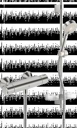 Termostatinis dušo maišytuvas Nova su dušo komplektu Apollo (7460U+544)