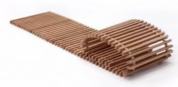 Grotelės įleidžiamam grindiniam konvektoriui GR 100x32 Ąžuolas