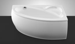 Akmens masės vonia Vispool Piccola 1540x950 mm, kairinė, balta