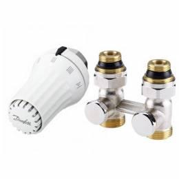 """Tiesus ventilis RLV-KS H 1/2"""" + termostatinis elementas RAE-K 5034, temperatūrinės ribos 8-28 °C"""