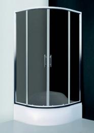 Pusapvalė dušo kabina MADISON NEO/800, 80x80 cm, stiklas Rouch, prof.Brillant, R550