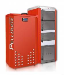 Katilas granulinis PELLDUOX 25 KW (bunkerio talpa 200 ltr.)