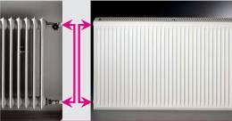 Renovacinis plieninis radiatorius HM 21K 6_0400, prijungimas iš šono