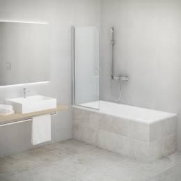 Vonios sienelė TV1 800x1400 mm, prof.brillant, skaidrus stiklas