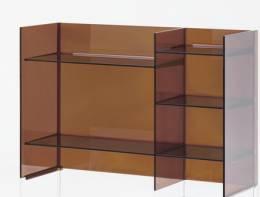 Kartell by LAUFEN Lentynų modulis Sound-rack 530x750x260 mm, spalva gintarinė