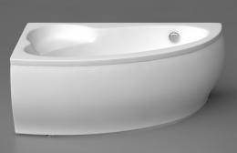 Akmens masės vonia Vispool Piccola 1540x950 mm, dešininė, balta