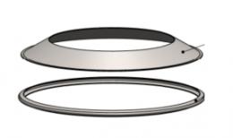 Žiedas gaudikliui-deflektoriui NP su apkaba d.130 (BL)