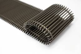 Grotelės įleidžiamam grindiniui konvektoriui GR 160x32 ruda