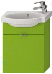 (*n.g.) Spintelė Tigo su mažu praustuvu 45 cm, atlenkiamos durelės, žalia