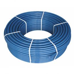 Daugiasluoksnis vamzdis PE-RT  grindų šildymui d.18x2.0, su antifuzine aps. plėv., mėlynas, po 600m