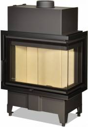 Židinio ugniakuras kampinis HR2SY13 60.44.33.13 vientisu dešinės pusės stiklu 44 cm ir atv. durimis