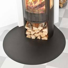Metalinė grindų apsauga krosnelei Contura C500, juodos spalvos