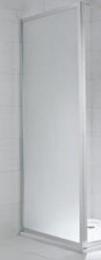 Stacionari dušo sienelė CUBITO pure 90 x 195 cm, skaidrus stiklas, sidabrinis profilis, kairė/dešinė