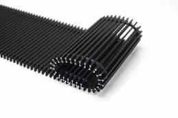 Grotelės įleidžiamam grindiniam konvektoriui GR 100x22 Aliuminis juodos spalvos