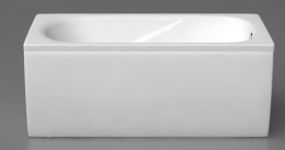 Akmens masės vonios Classica 1500x750 mm U formos uždanga, balta (323050U)