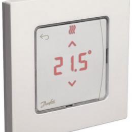 Icon™ su displėjumi, įleidžiamas į sieną patalpos termostatas 24V, temp. ribos 5-35C