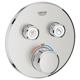 Virštinkinė dušo maišytuvo dalis Grohtherm SmartControl, 2 valdikliai, supersteel