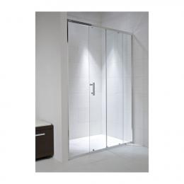 CUBITO pure dušo durelės 1000x1950 mm, 2jų segmentų, stiklas skaidrus, profilis sidabro