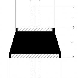 Antivibracinės gumos (kojelės) laikikliams kompl. 4vnt. (Maks. 1vnt. apkrova 5~50kg)