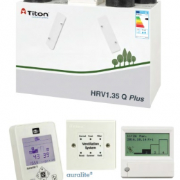 Rekuperatorius TITON HRV1.35 Q Plus BC Eco kairinis 237m3/h@100Pa