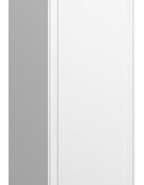 THE NEW CLASSIC aukšta spintelė 1600x330x330 cm, balta blizgi, durų vyriai dešinėje