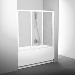 Vonios durys AVDP3-150, prof.baltas, stiklas Transparent