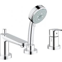 Maišytuvas voniai BAUEDGE  3 dalių iš vonios krašto ( naujas kodas ...00A), chromas