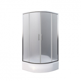 Dušo kabina Portland Neo 900, profilis brillant, stiklas matinis
