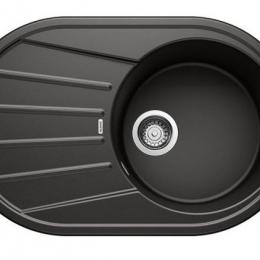 Plautuvė BLANCOTAMOS 45 S, 780x500 mm, juoda spalva