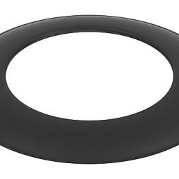 Dekoratyvinis žiedas juodas 150-CZ (ML)