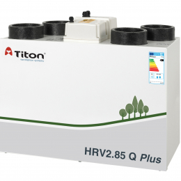 Rekuperatorius TITON HRV2.85 Q Plus BC Eco dešininis 320m3/h@100Pa