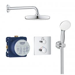 Potinkinė termostatinė dušo sistema Tempesta 210, chromas