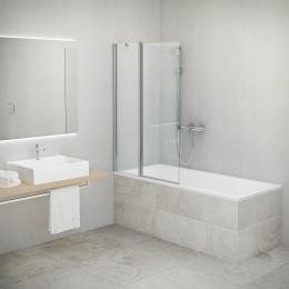 Vonios sienelė TV2, atsidaro į abi puses, 970-980/1420 mm, prof. brillant, stiklas skaidrus