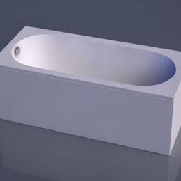 Akmens masės vonia Vispool Libero 1800x800 mm, balta